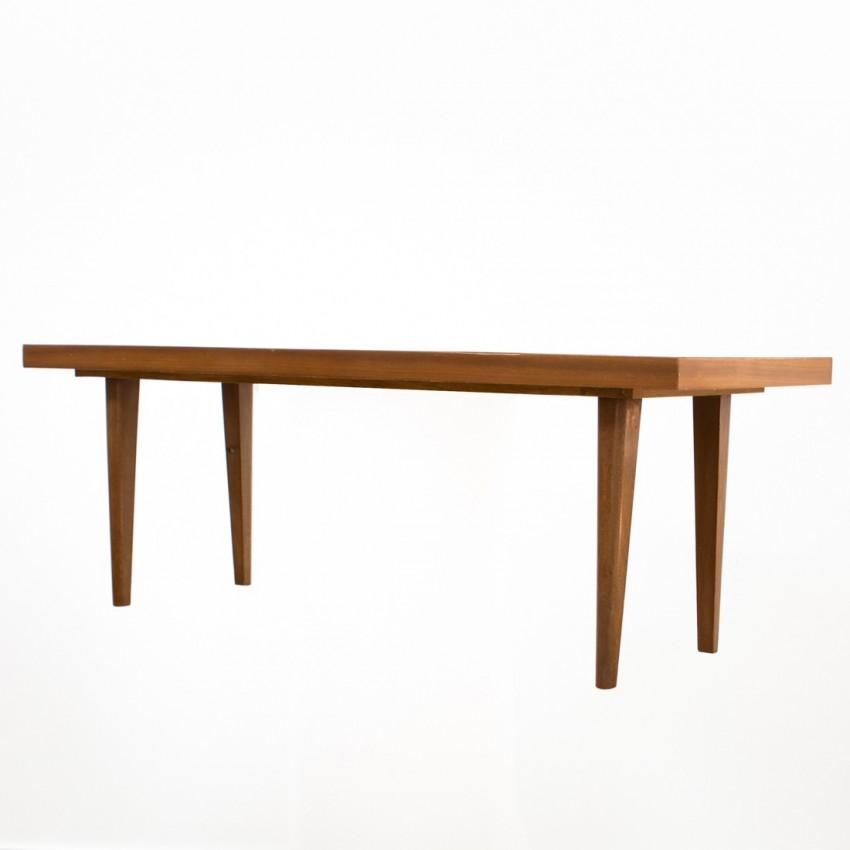 Table basse en bois et Formica des années 1950