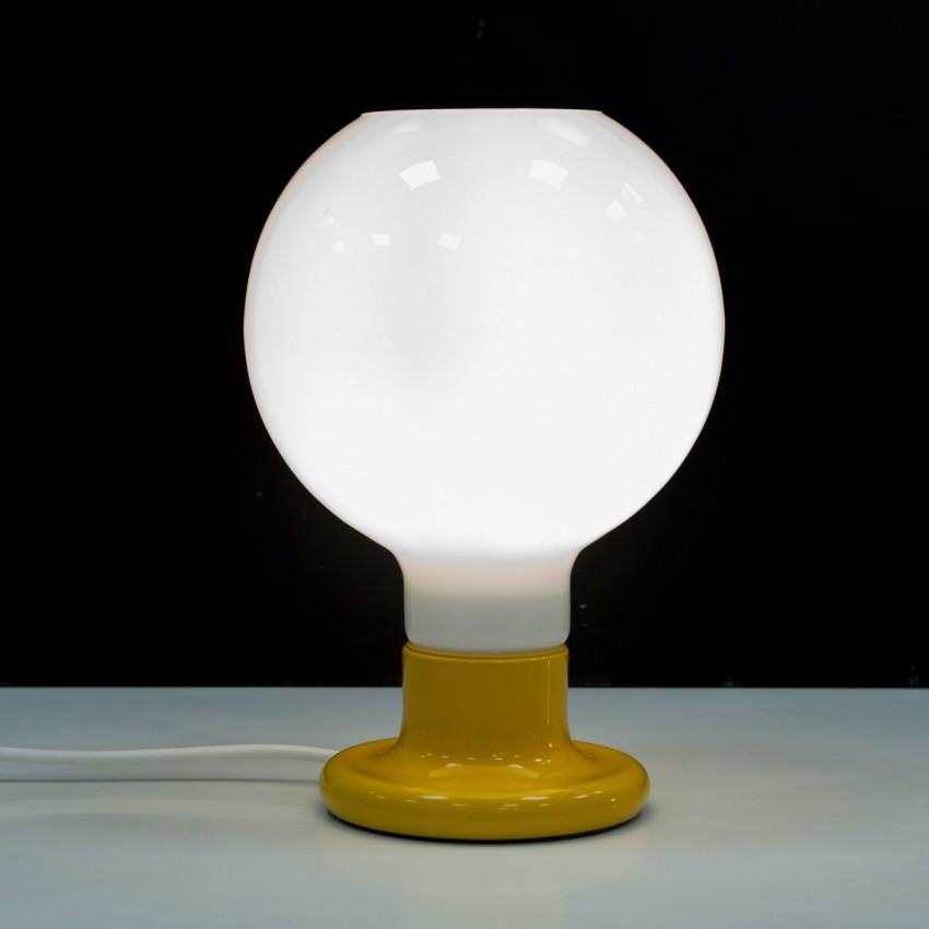 Luminaire à poser en verre et métal