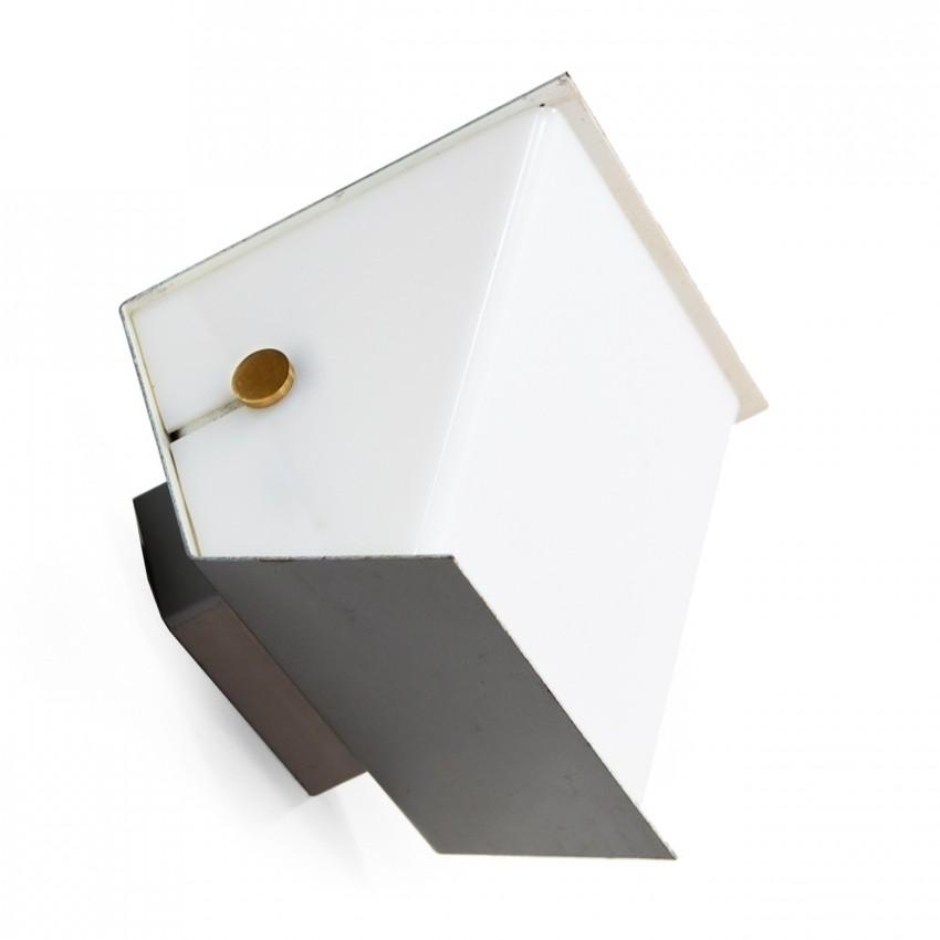 Applique en tôle pliée et Plexiglas des années 1950