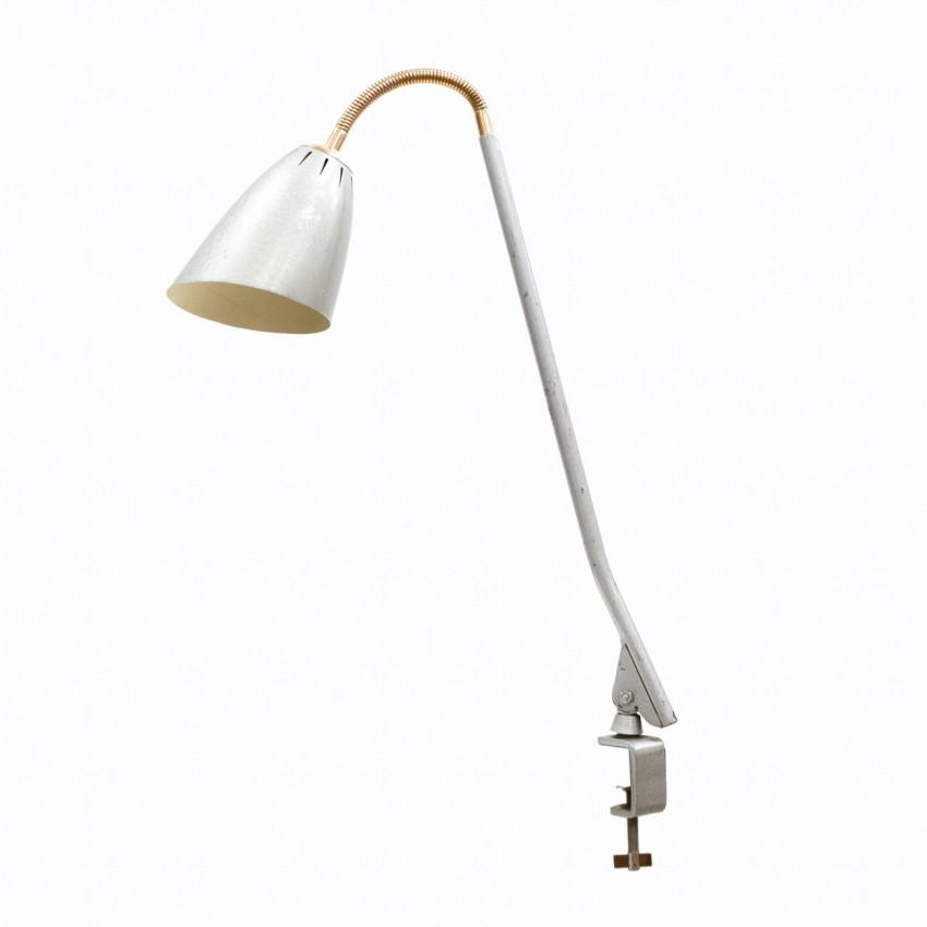 Lampe d'atelier flexible à étau des années 1960