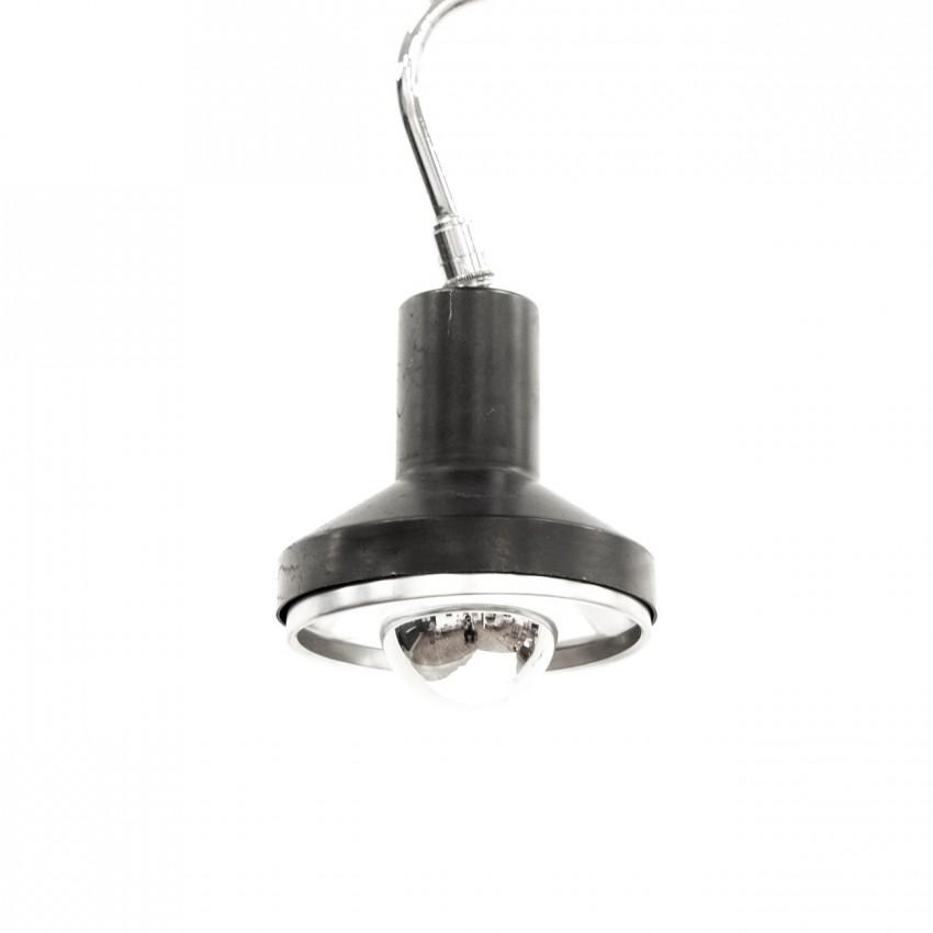 Lampe de bureau articulée à étau - Chrome et noir