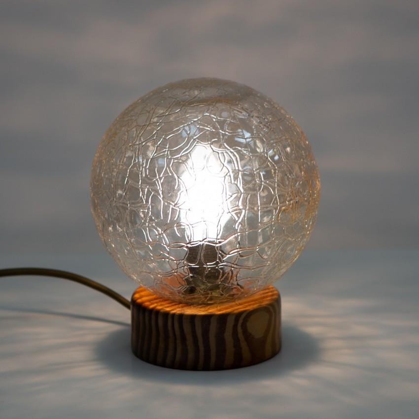 Lampe bois et verre sphérique Wortmann & Filz 7822