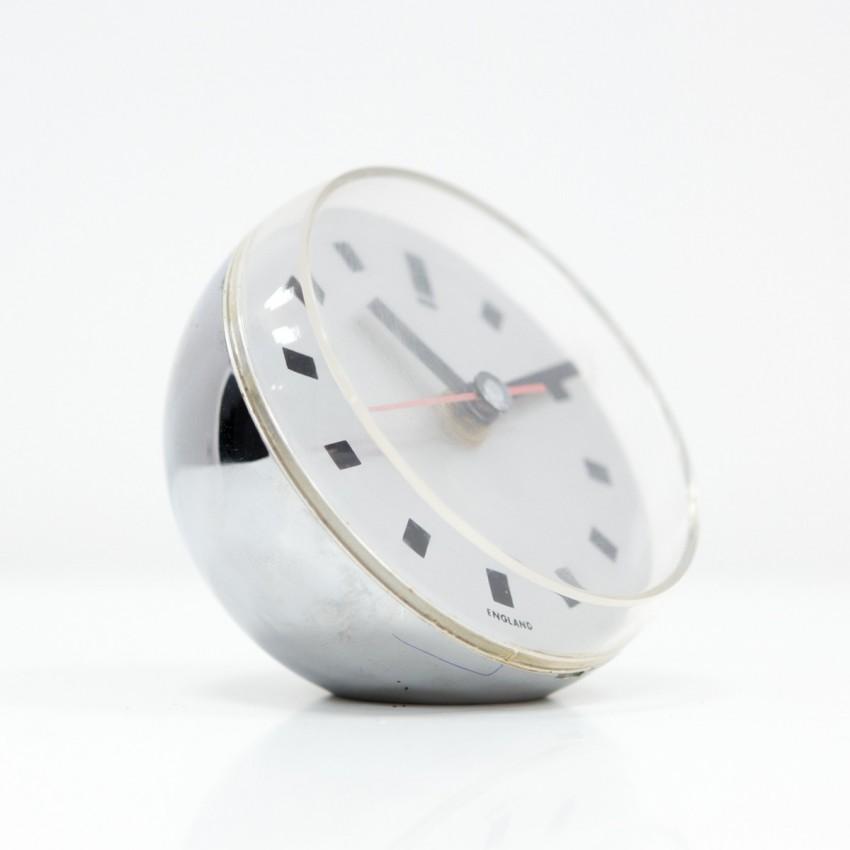Horloge Ball Clock chromée d'Anthony Gemmill pour Acrylic products