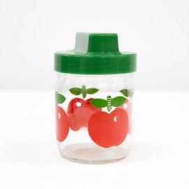 Bocal Henkel vintage à pommes rouges !