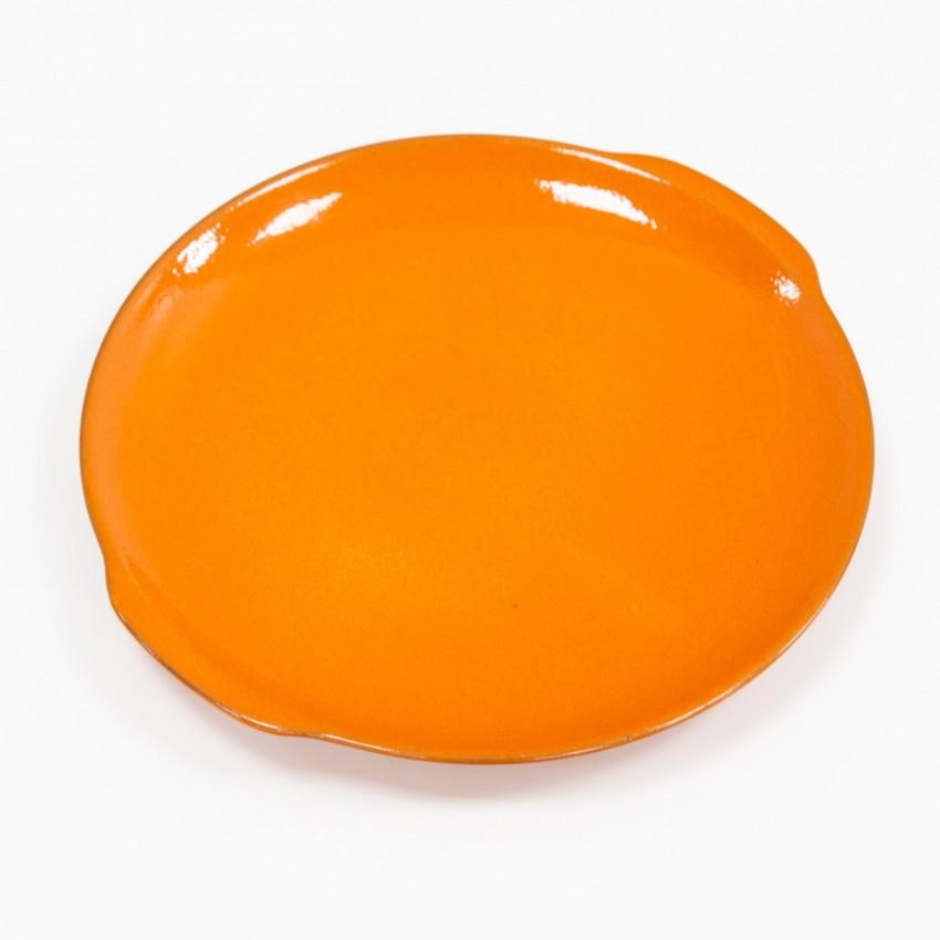 Plat rond et orange des années 1970
