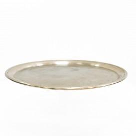 Plateau de bistrot en métal argenté pour Citram
