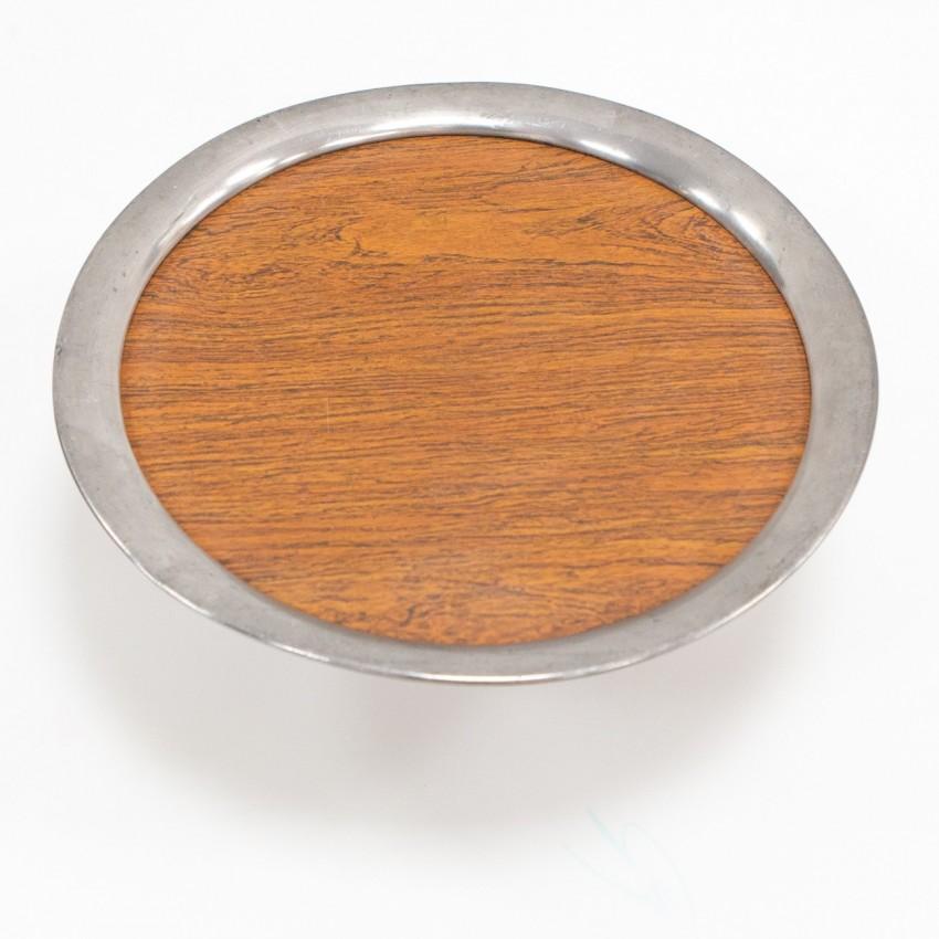 Plateau en bois et métal
