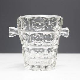 Seau à glaçons vintage en cristal