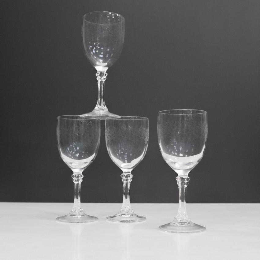 Verres à vin Art déco en cristal