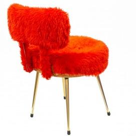 Chaise moumoute rouge - Pelfran