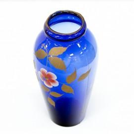 Vase en verre bleu - Art déco