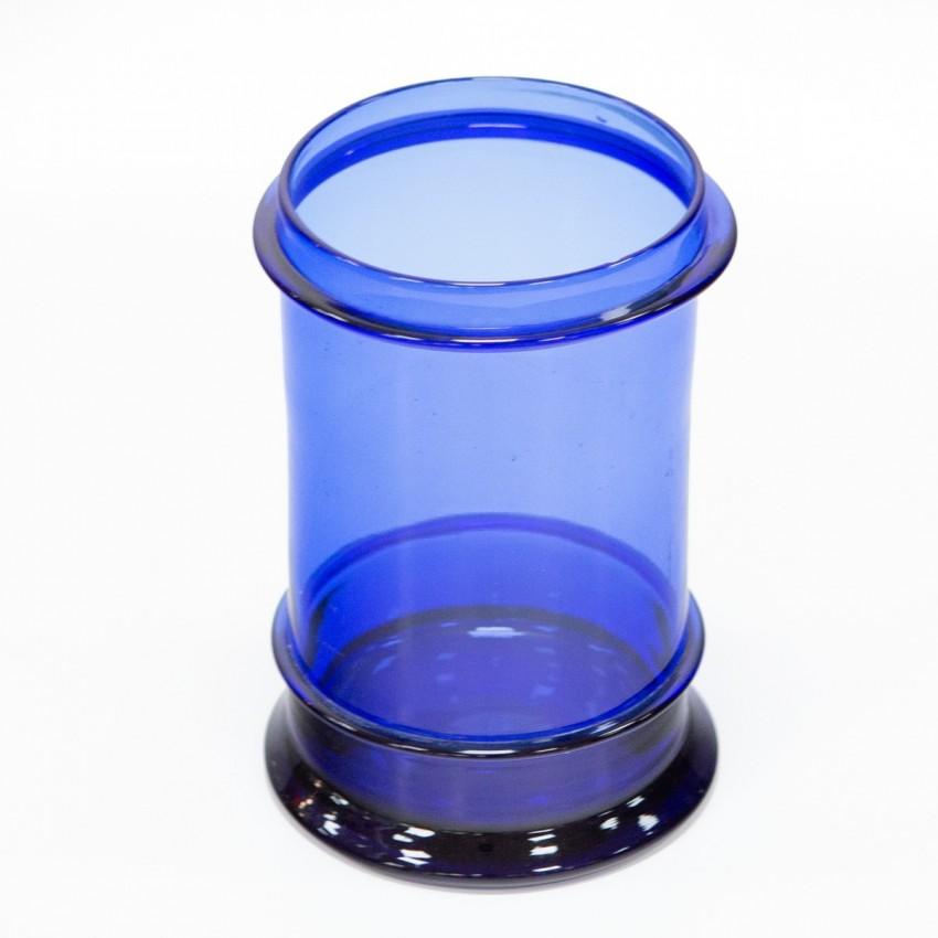 Vase ancien en verre teinté