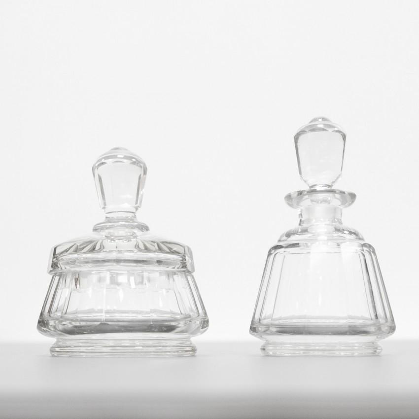 Poudrier et flacon de parfum Art déco