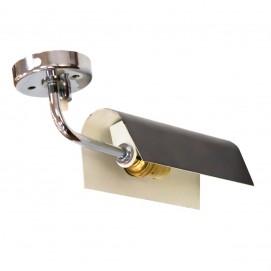 Applique Disderot 5555 métal laqué noir et tige chromée