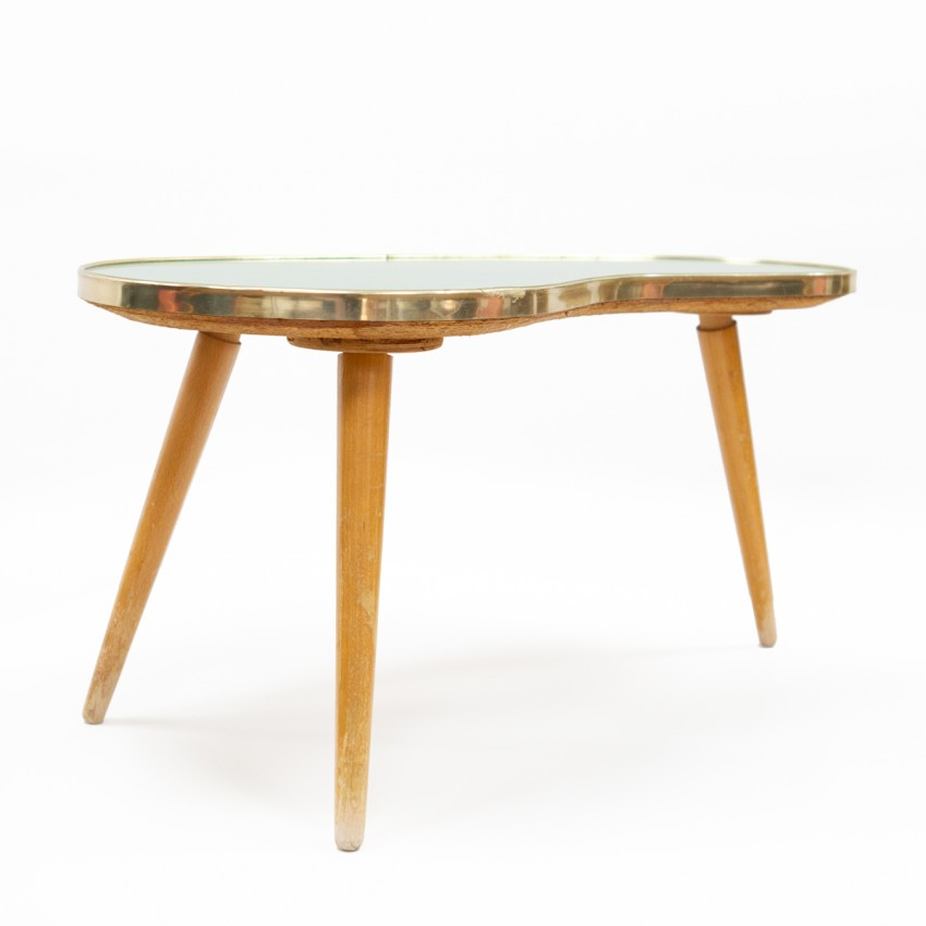 Table d'appoint haricot tripode Formica vert