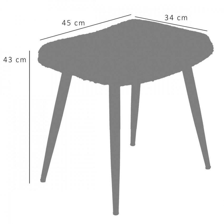 Tabouret moumoute rectangulaire fabriqués en Allemagne dans les années 1960
