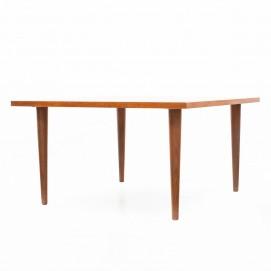 Table basse carrée en bois éditée par Ekornes dans les années 1960