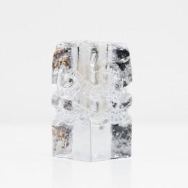 Soliflore parallélépipédique en verre édité par Walther Glas dans les années 1970.