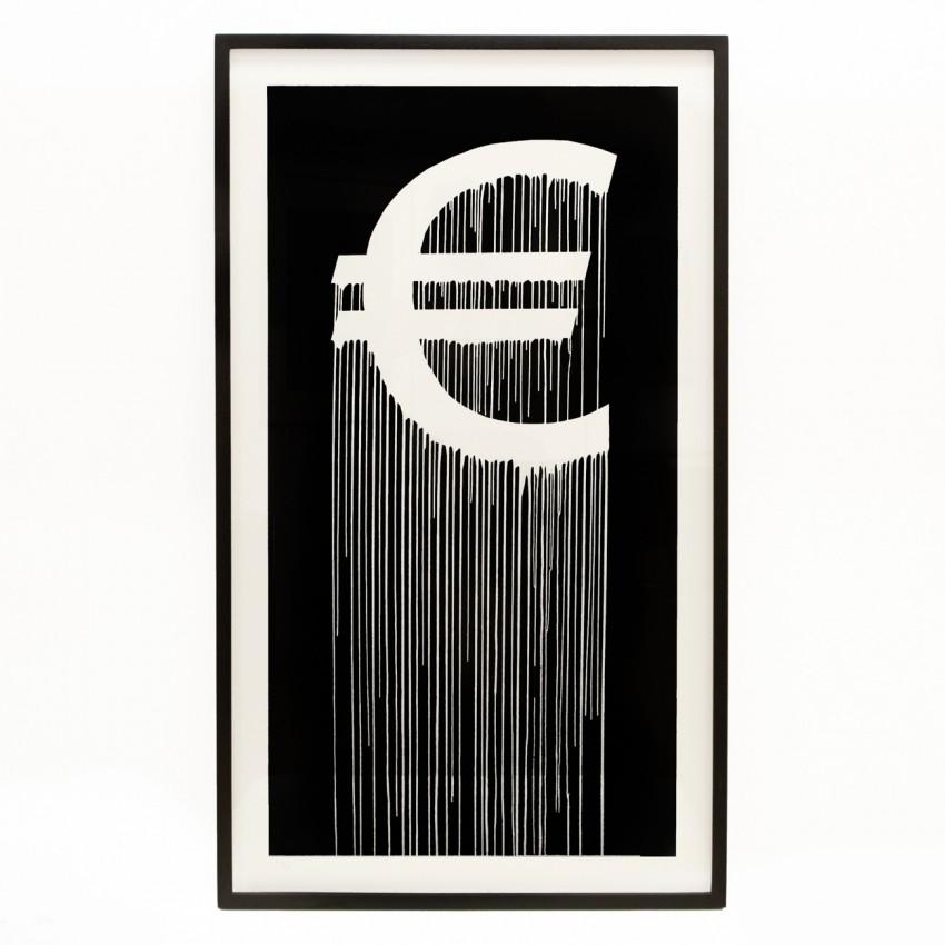 Euro - Liquidated Logo - Lithographie  de ZEVS