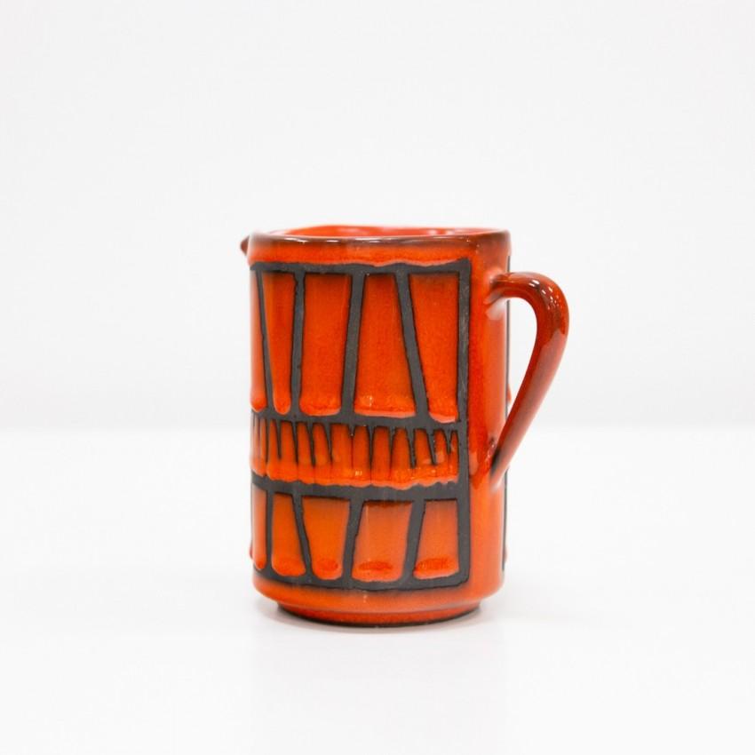 Céramique Capron - Pichet rouge (Vallauris)