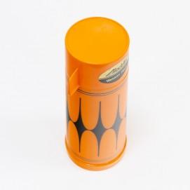 Thermos Aladdin orange et noir des années 1960
