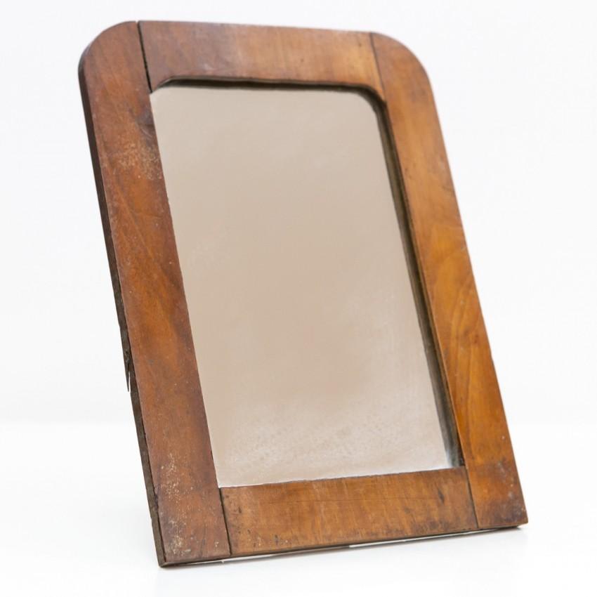 Miroir à poser des années 1950 - Cadre bois
