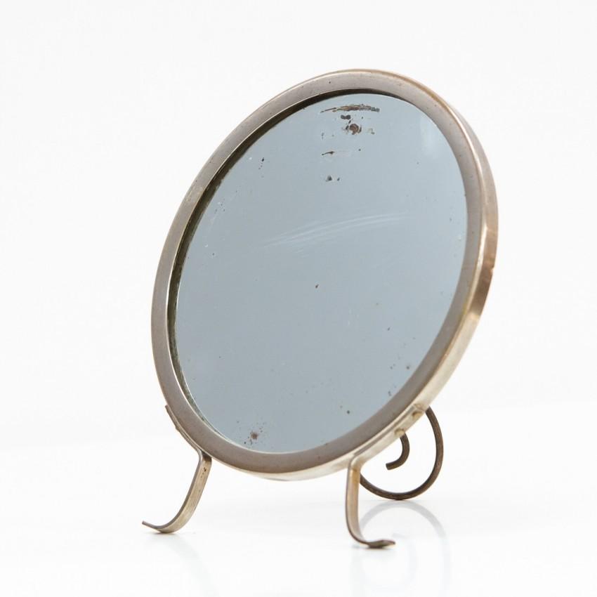Miroir à poser rond des années 1950