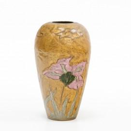 Vase en laiton peint