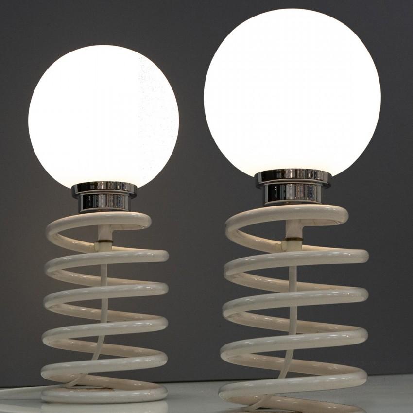 Lampe de chevet ressort des années 1970