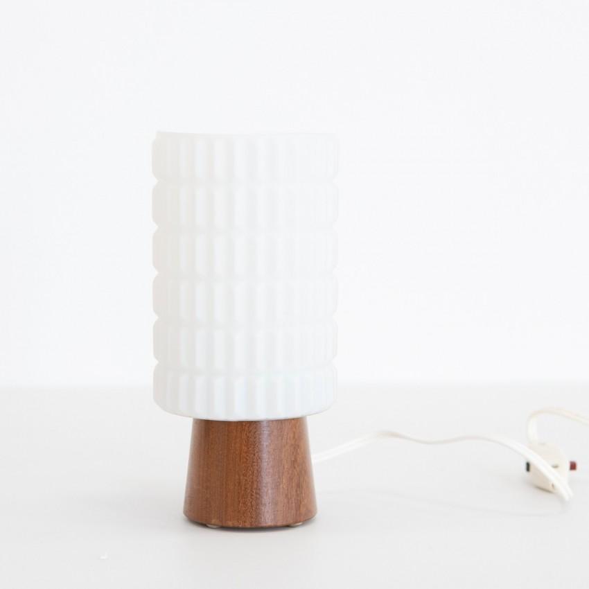 Lampe cylindrique en bois et verre Philips Thônes