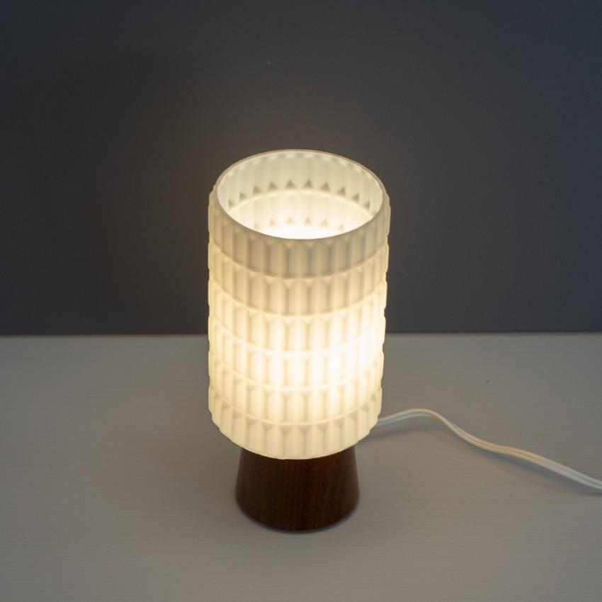 Lampe cylindrique en bois et verrre Philips Thônes