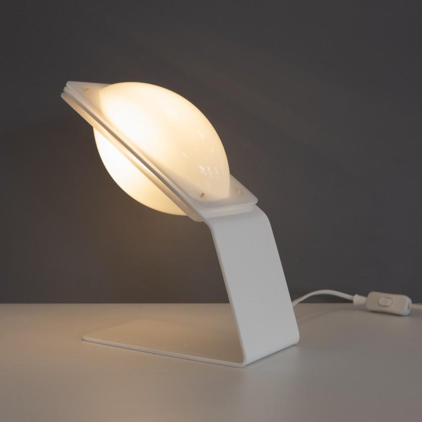 Lampe de bureau italienne en plexiglas