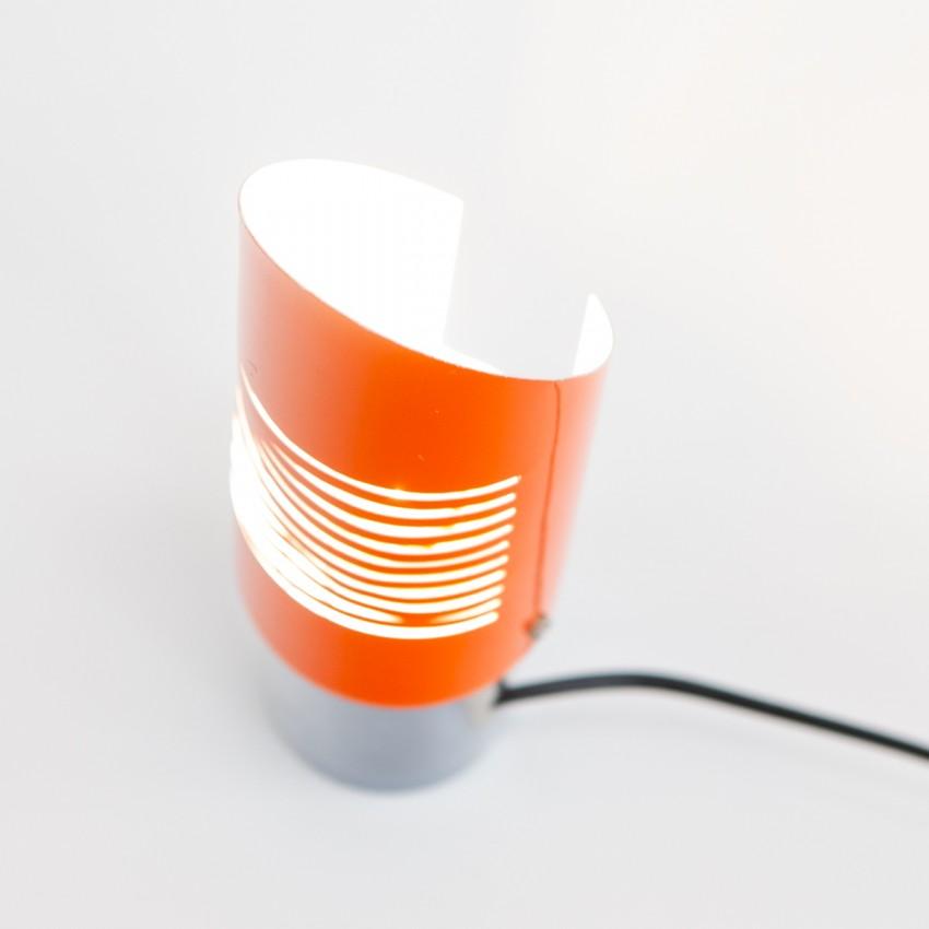 Lampe d'ambiance cylindrique en tôle ajourée - L. Cantini