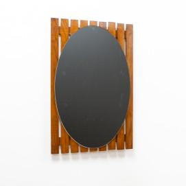 Miroir ovale des années 1960