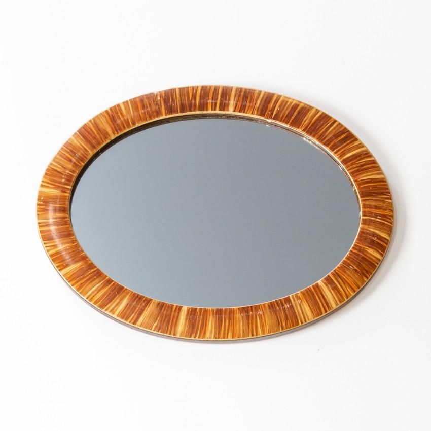 Miroir en bois des années 1950