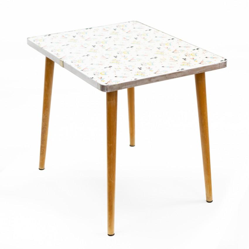 Petite table d'appoint ou bureau d'enfant des années 1960