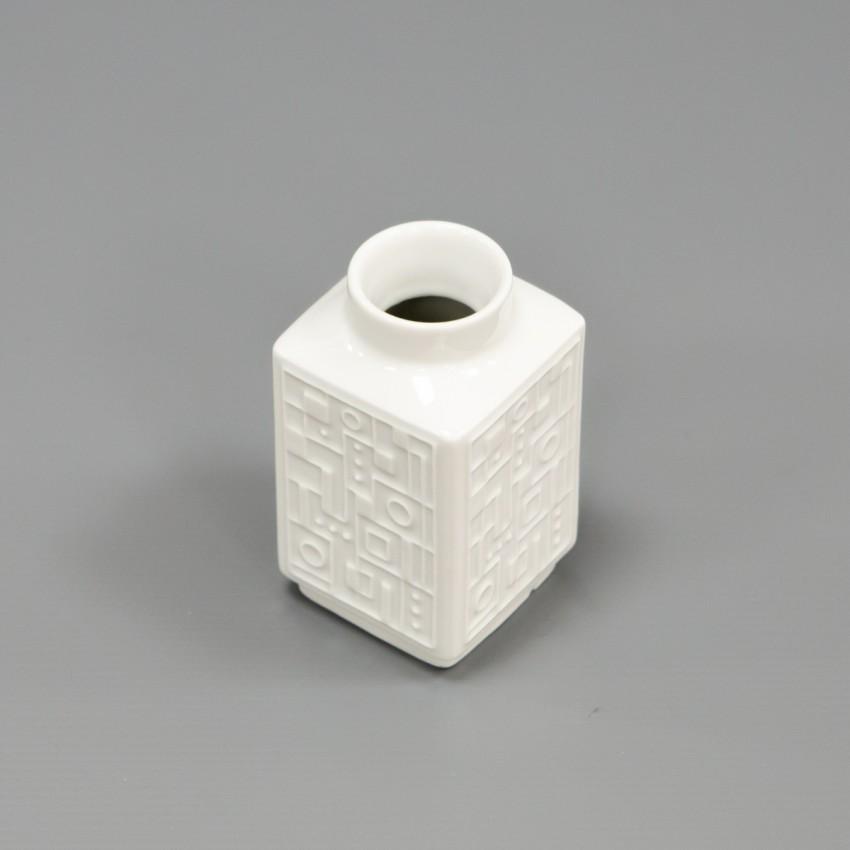 Vase moderniste en porcelaine de Wunsiedel Bavaria Germany