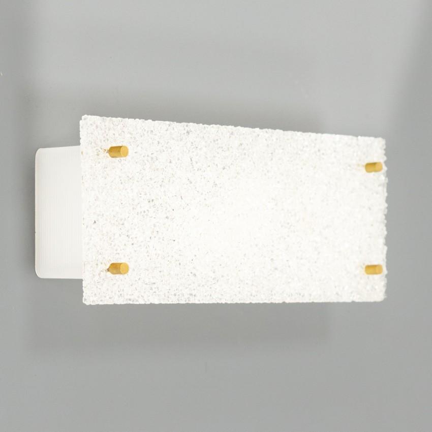 Applique rectangulaire en Plexiglas et laiton des années 1960