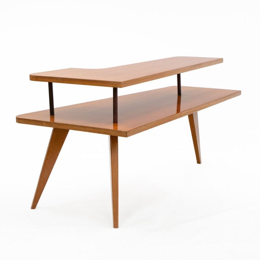Table basse d'angle à deux plateaux - Meubles SAM à Bordeaux
