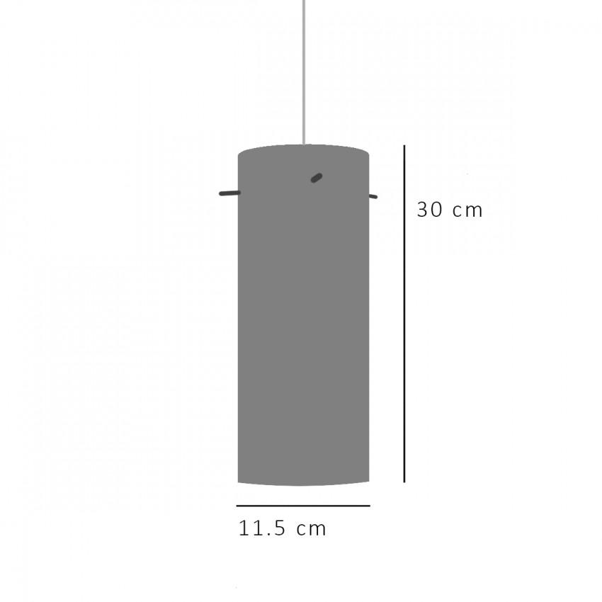 Suspension cylindrique en verre des années 1950