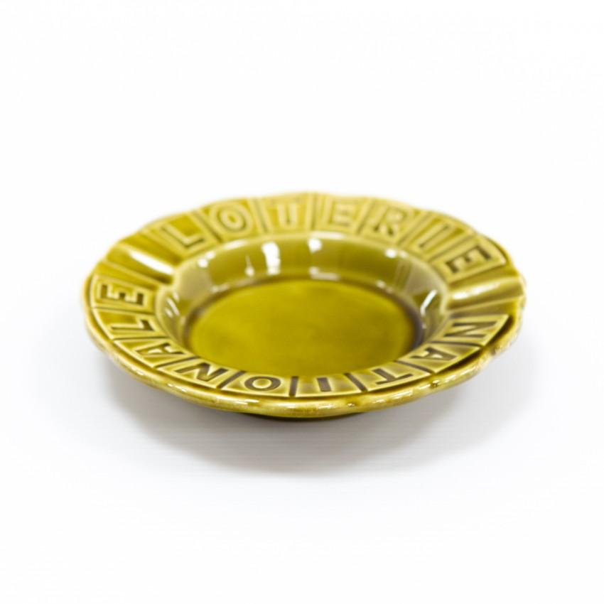 Cendrier de la Loterie nationale - Porcelaine de Gien - Vert