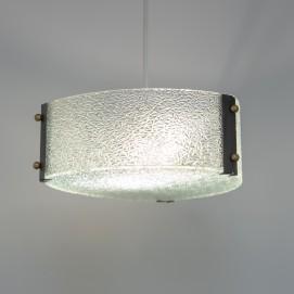 Suspension triangulaire en verre gravé - Delmas 6381