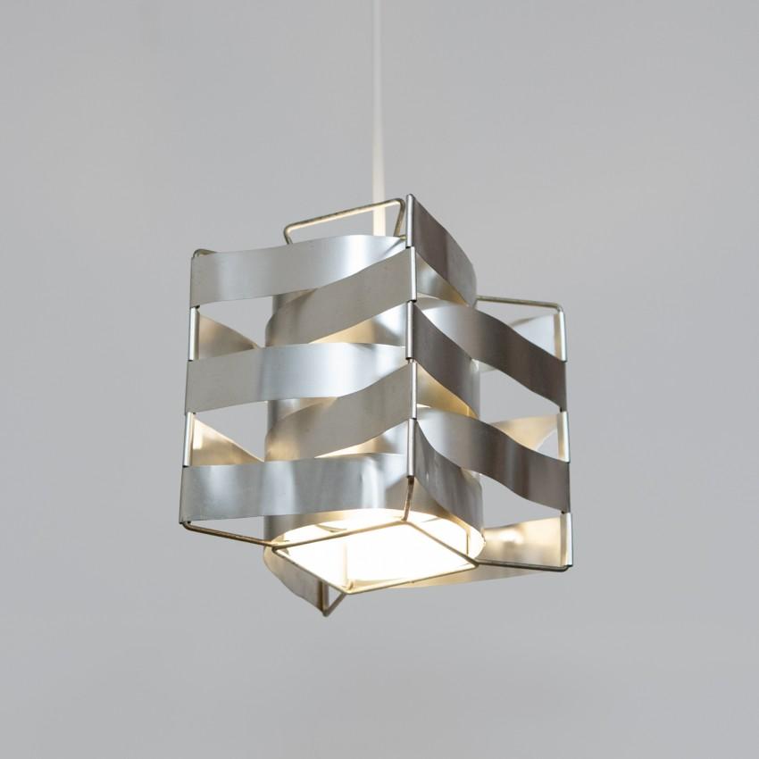 Lampe Uranus en lamelles d'aluminium dessinée par Max Sauze et éditée par G. Group en 1969