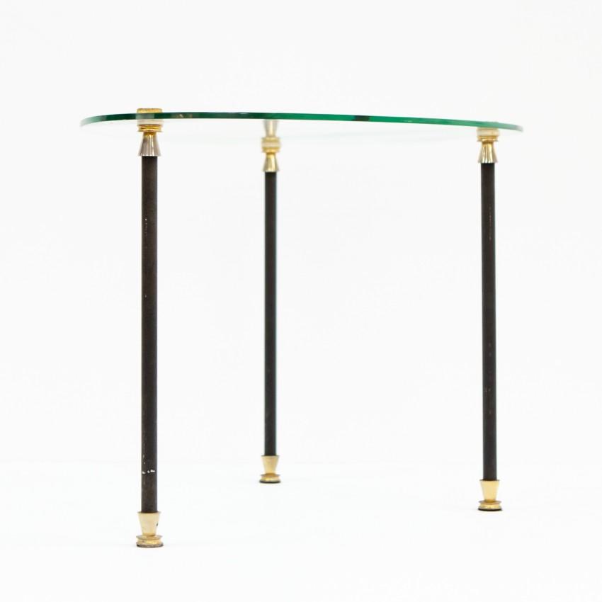 Table basse palette de peintre des années 1950 Etalux