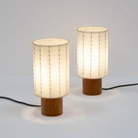 Lampes d'appoint cylindriques Cocoon de Goldkant