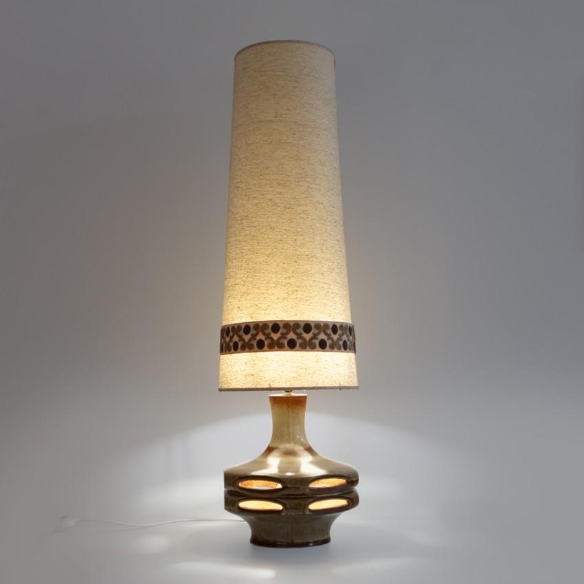Lampadaire en céramique des années 1970