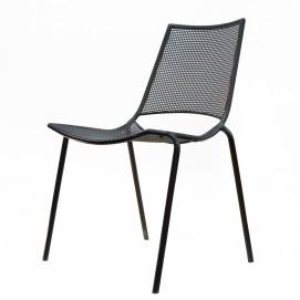 Chaise en métal perforé et tube des années 1960