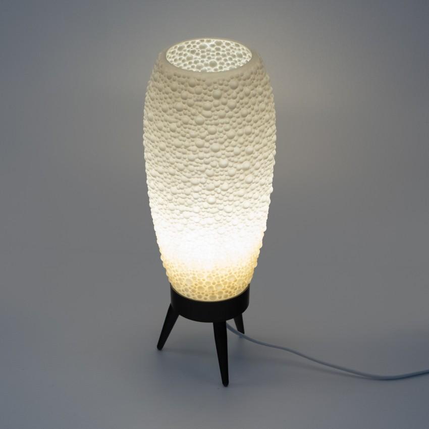 Lampe tripode en plastique des années 1960