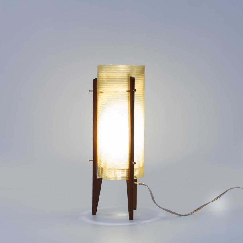 Lampe rocket tripode comportant un cylindre en Rotaflex