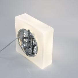 Verrerie opale parallélépipédique des années 1960